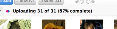 uploading 31 of 31 (87% complete)