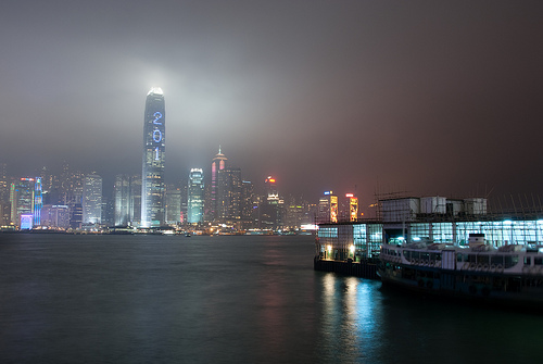 Hong Kong Island at night