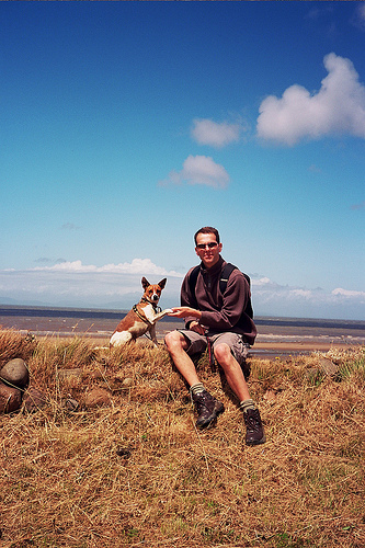 One man and his dog: at Mile 21 Fortlet