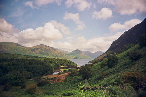 Wastwater from the fells