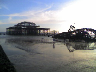 West Pier, with tide out
